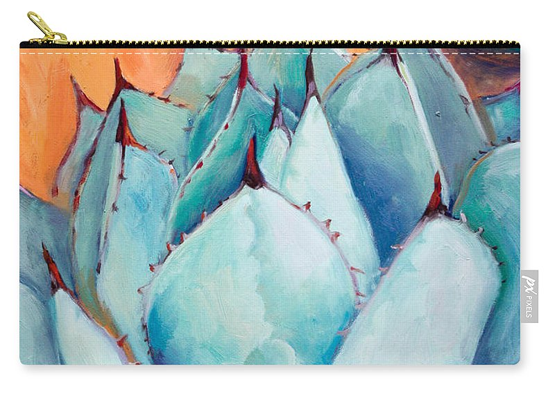 Plant Carry-all Pouch featuring the painting Agave 1 by Athena Mantle