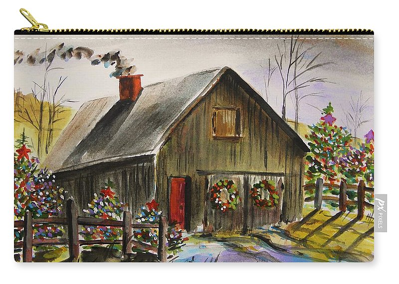 Barn Carry-all Pouch featuring the painting Aged And Decorated by John Williams
