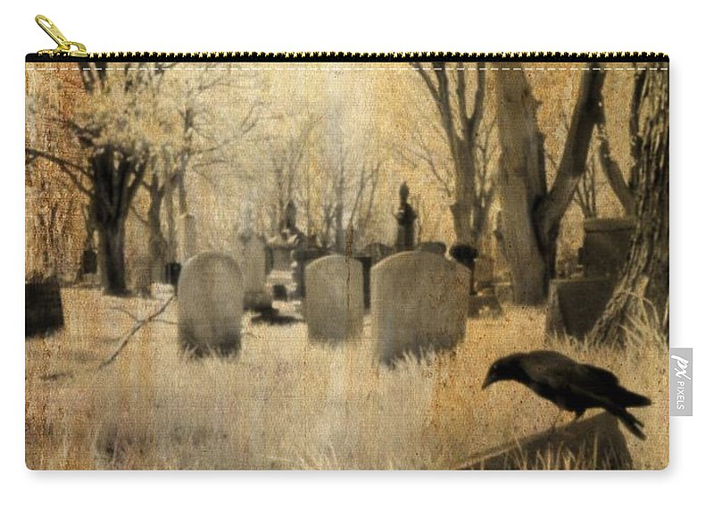 Infrared Graveyard Carry-all Pouch featuring the photograph Aged Infrared by Gothicrow Images