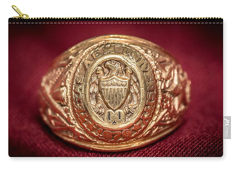 Aggie Ring Carry-all Pouch featuring the photograph Aggie Ring by David Morefield