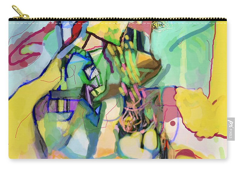 Torah Carry-all Pouch featuring the digital art Self-renewal 13t by David Baruch Wolk