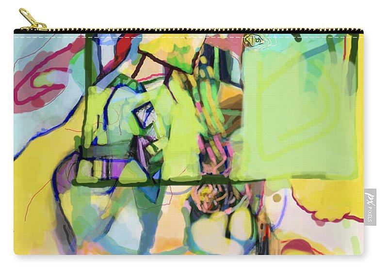 Torah Carry-all Pouch featuring the digital art Self-renewal 13u by David Baruch Wolk