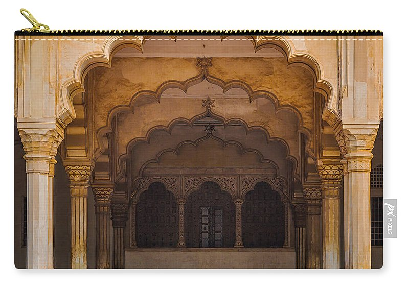 Agra Carry-all Pouch featuring the photograph Agra Fort Arches by Inge Johnsson
