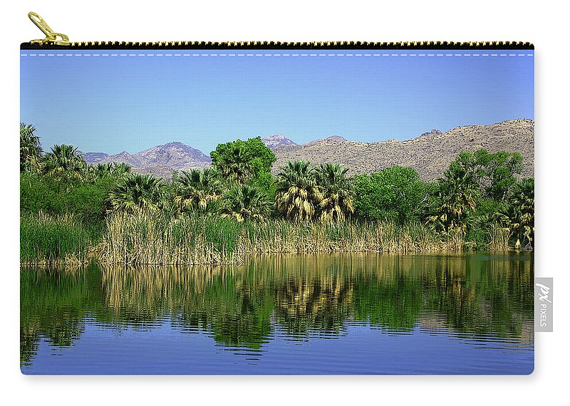 Oasis Carry-all Pouch featuring the photograph Agua Caliente by Joe Kozlowski