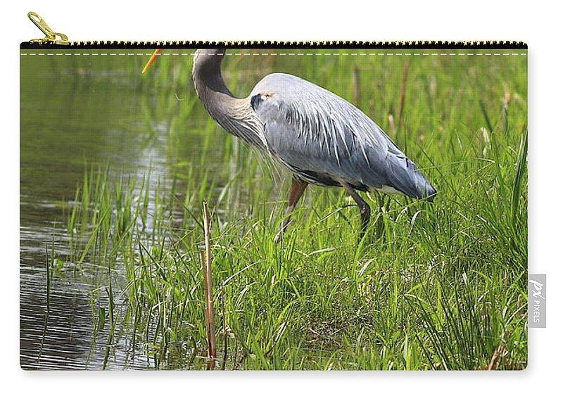 Bird Carry-all Pouch featuring the photograph Ah That Tastes Good by Deborah Benoit