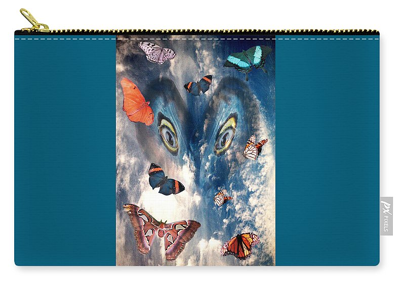 Air Carry-all Pouch featuring the digital art Air by Lisa Yount