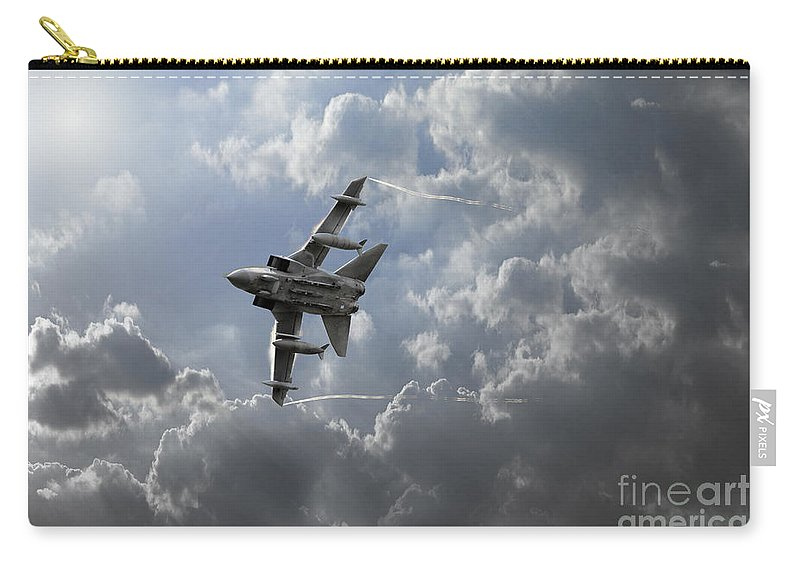 Raf Tornado Gr4 Carry-all Pouch featuring the digital art Air Superiority by J Biggadike