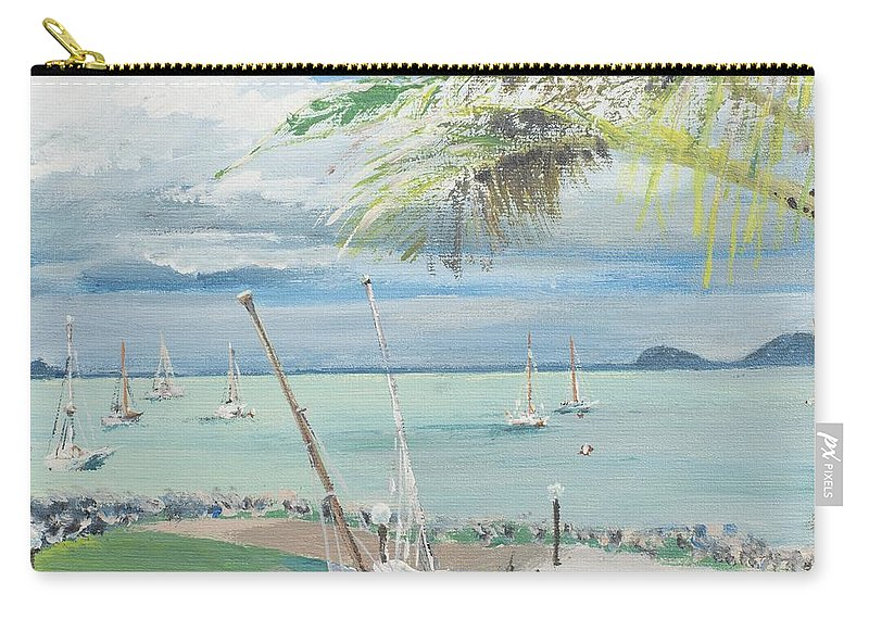Australia Carry-all Pouch featuring the painting Airlie Beach Australia by Vincent Alexander Booth