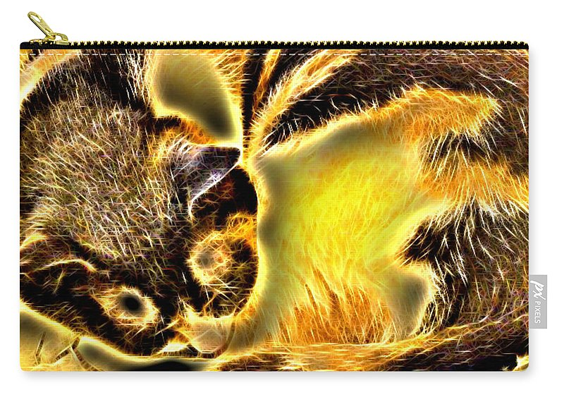 Cat Carry-all Pouch featuring the digital art Aisha 2 by April Patterson