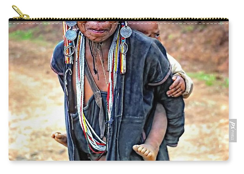 Hill Tribe Carry-all Pouch featuring the photograph Akha Tribe by Steve Harrington