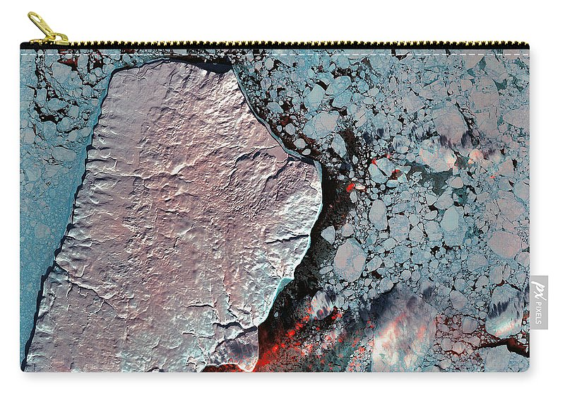 Akpatok Island Carry-all Pouch featuring the photograph Akpatok Island by USGS Landsat