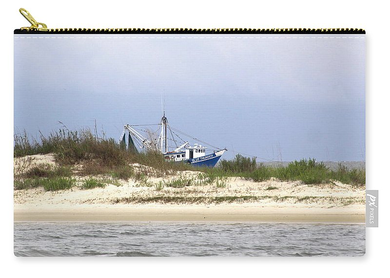 Boat Carry-all Pouch featuring the photograph Alabama - Gulf Of Mexico Shrimper - Beautiful Day For Fishing by Travis Truelove