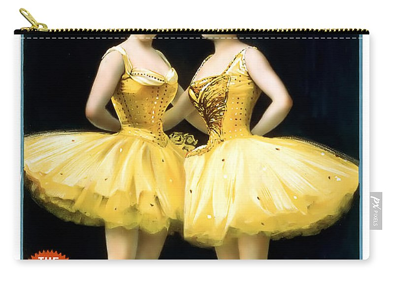 Vintage Poster Carry-all Pouch featuring the painting Aladdin Jr Ballerinas by Terry Reynoldson