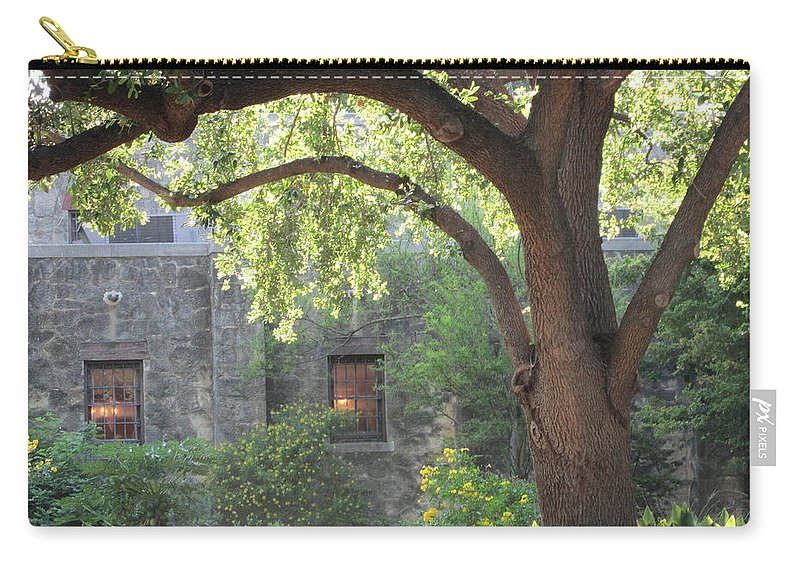 Nature Carry-all Pouch featuring the photograph Alamo At Dusk by Jewell McChesney