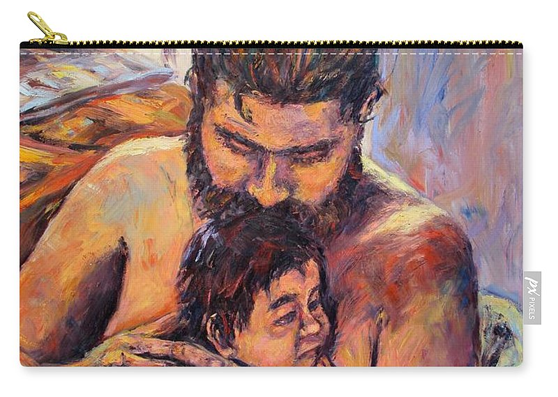 Kendall Kessler Carry-all Pouch featuring the painting Alan And Clyde by Kendall Kessler