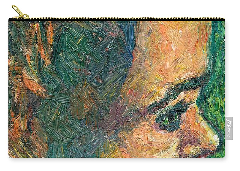 Baby Carry-all Pouch featuring the painting Alan By Our Window by Kendall Kessler