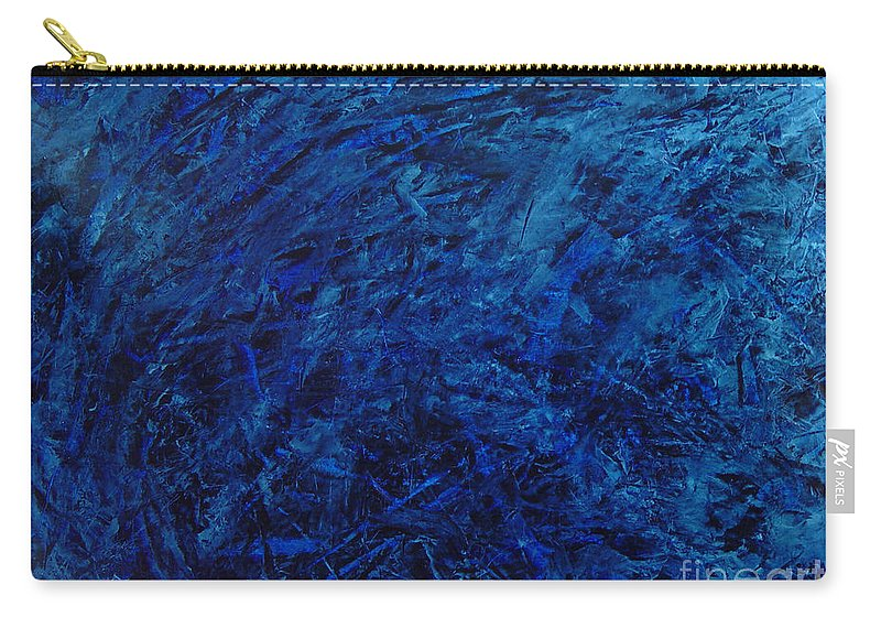 Abstract Carry-all Pouch featuring the painting Alans Call by Dean Triolo