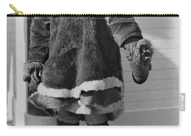 1914 Carry-all Pouch featuring the photograph Alaska Eskimo Girl by Granger