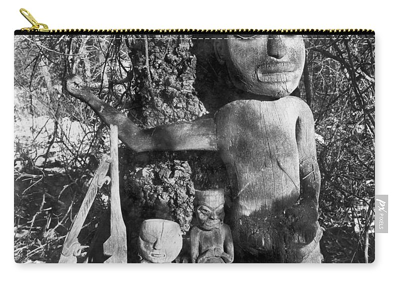 1895 Carry-all Pouch featuring the photograph Alaska: Eskimo Grave by Granger