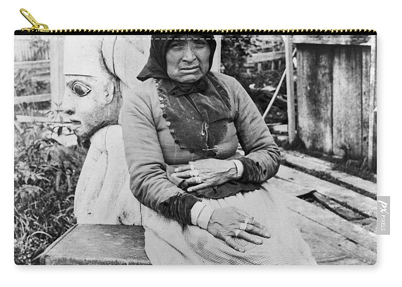 1904 Carry-all Pouch featuring the photograph Alaska Eskimo Woman by Granger