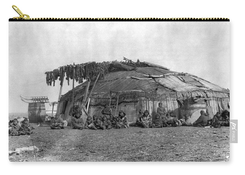 1897 Carry-all Pouch featuring the photograph Alaska Eskimos, C1897 by Granger