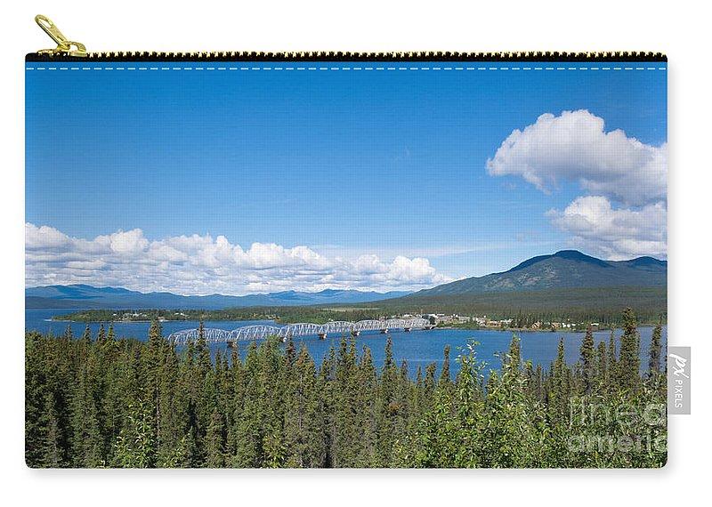 Alaska Carry-all Pouch featuring the photograph Alaska Highway Steel Bridge Teslin Yukon Canada by Stephan Pietzko