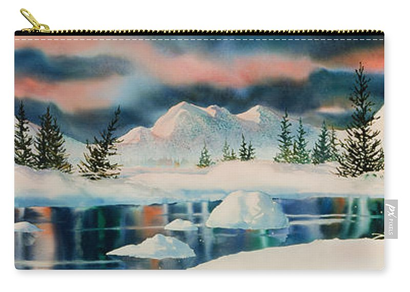 Alaska Panorama Carry-all Pouch featuring the painting Alaska Panorama by Teresa Ascone