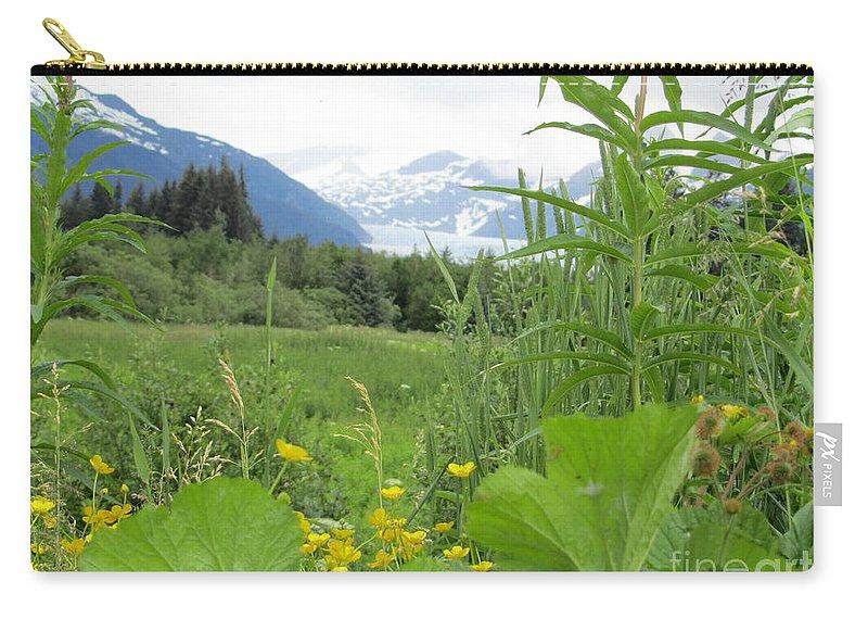 Alaska Carry-all Pouch featuring the photograph Alaskan Glacier Beauty by Donna Jackson