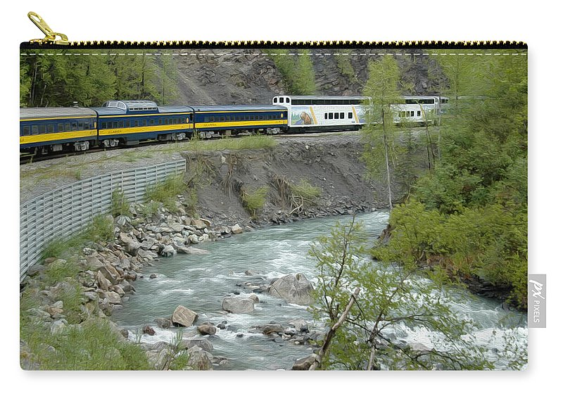 Denali Explorer Carry-all Pouch featuring the photograph Alaskan Railroad by Tracy Winter