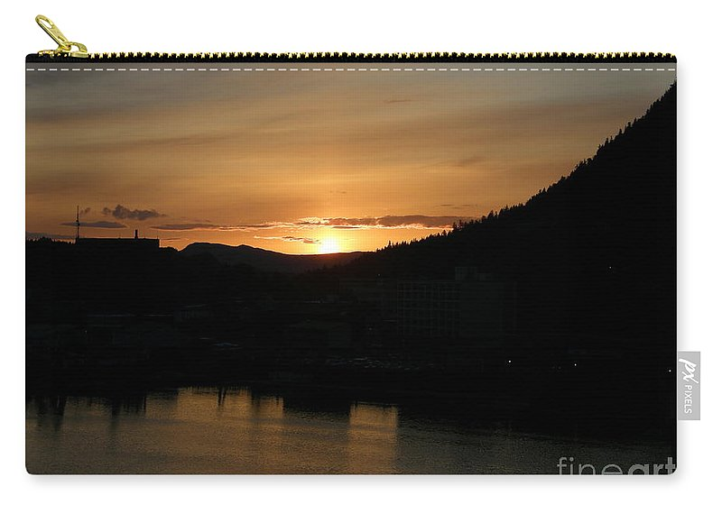 Alaska Carry-all Pouch featuring the photograph Alaskan Sunset by Bev Conover