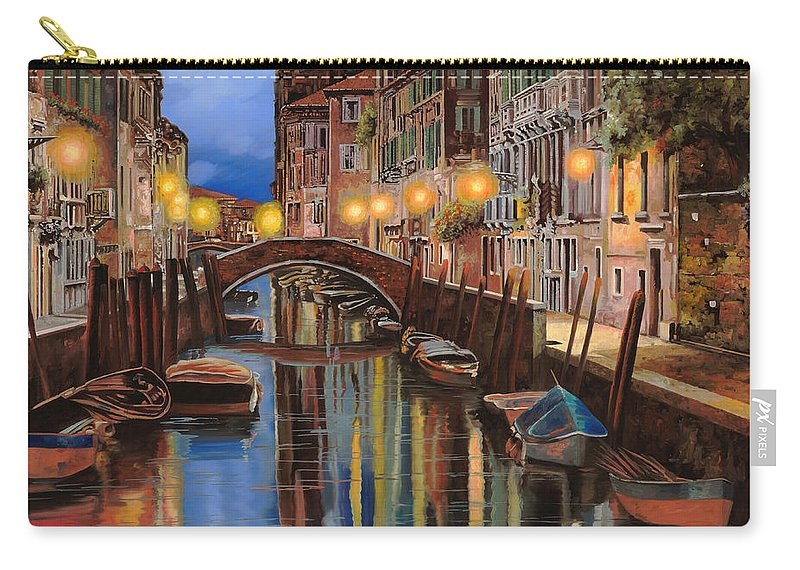 Venice Carry-all Pouch featuring the painting alba a Venezia by Guido Borelli