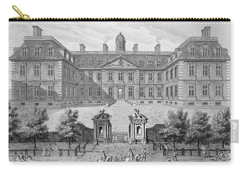 C17th English Architecture Carry-all Pouch featuring the drawing Albemarle House, Formerly Clarendon by Wise
