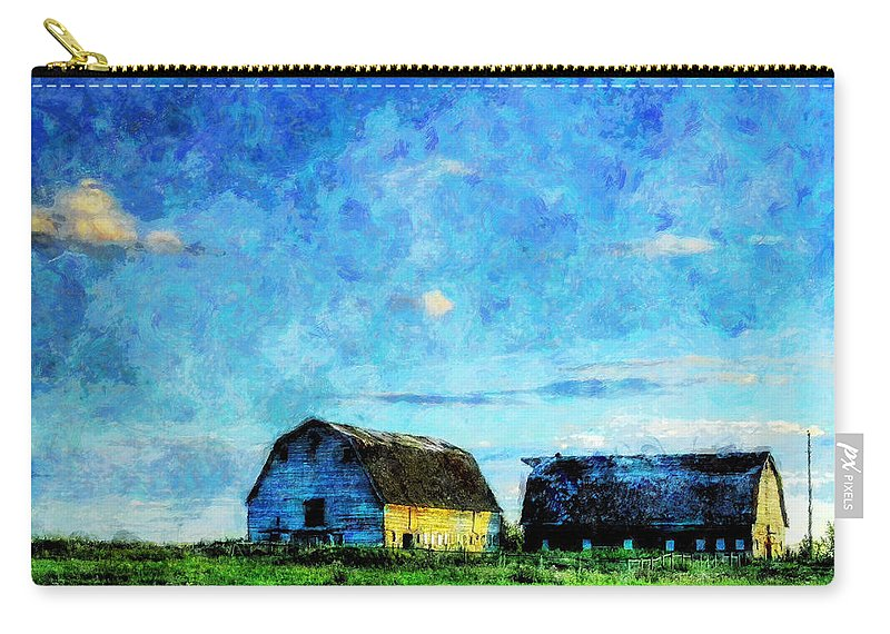Alberta Carry-all Pouch featuring the painting Alberta Barn at Sunset by Sandy MacGowan