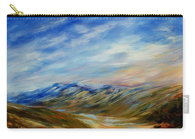 Alberta Moment Carry-all Pouch featuring the painting Alberta Moment by Joanne Smoley