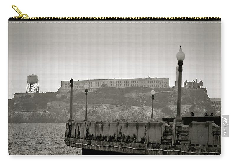Alcatraz Carry-all Pouch featuring the photograph Alcatraz-the Rock by Alex King