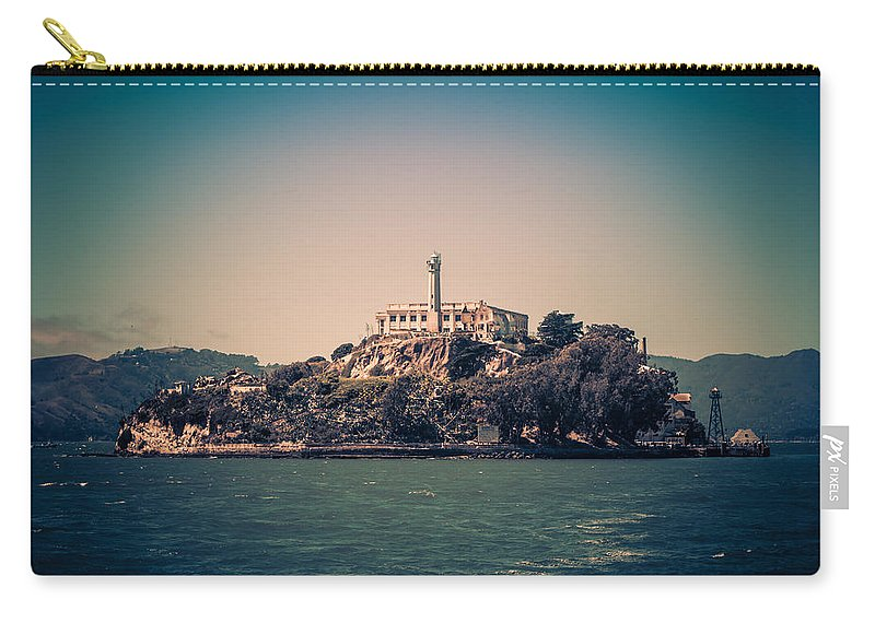 Alcatraz Carry-all Pouch featuring the photograph Alcatraz Island by Carlos Cano