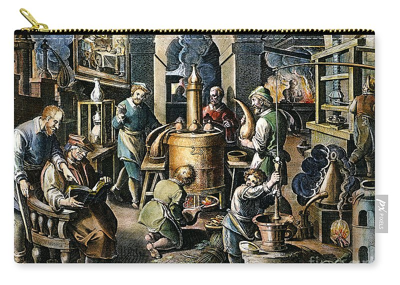 16th Century Carry-all Pouch featuring the photograph Alchemy: Laboratory by Granger