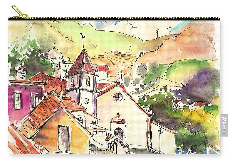 Portugal Carry-all Pouch featuring the painting Alcoutim In Portugal 07 by Miki De Goodaboom