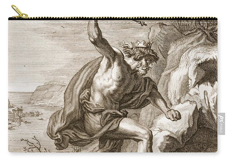 Halcyon Carry-all Pouch featuring the drawing Alcyone And Ceux Transformed by Bernard Picart