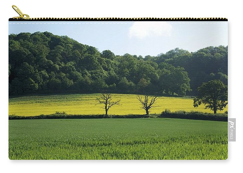 Green Carry-all Pouch featuring the photograph Alderton Hill by Ron Harpham