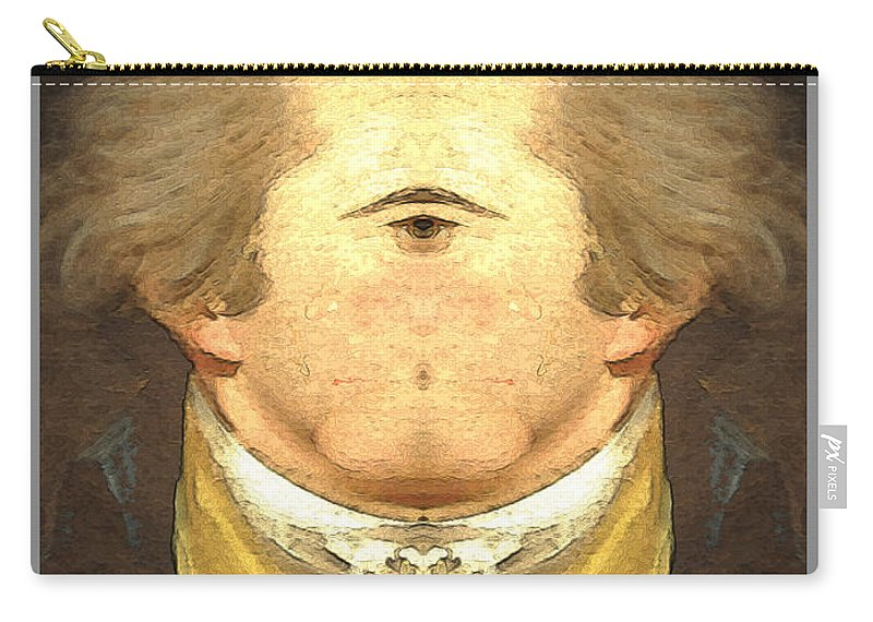 Carry-all Pouch featuring the digital art Alexander Hamilton Invert by Zac AlleyWalker Lowing