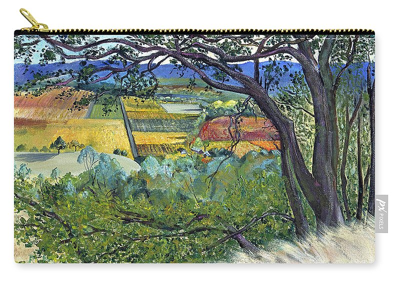 California Landscape Painting Carry-all Pouch featuring the painting Alexander Valley Vinyards by Asha Carolyn Young