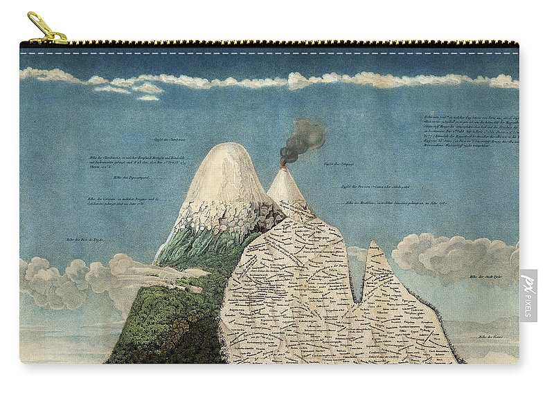 History Carry-all Pouch featuring the photograph Alexander Von Humboldts Chimborazo Map by Science Source