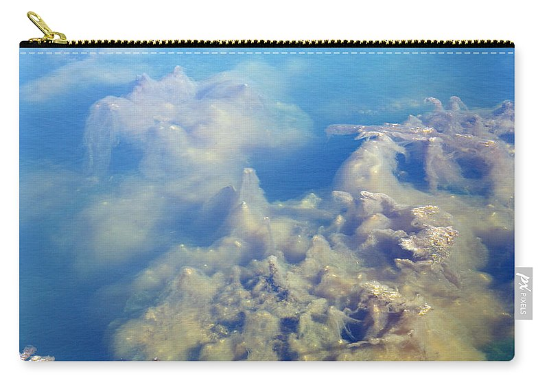 Abstract Carry-all Pouch featuring the photograph Algae Stalagmites by Greg Graham