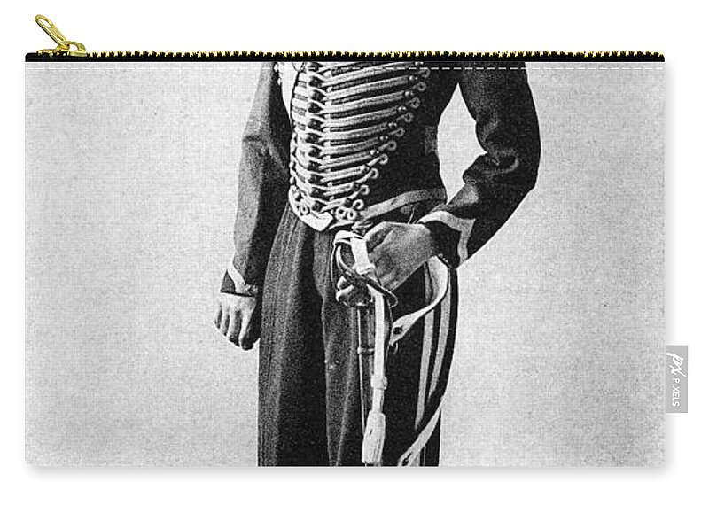 1860 Carry-all Pouch featuring the photograph Algeria French Soldier by Granger