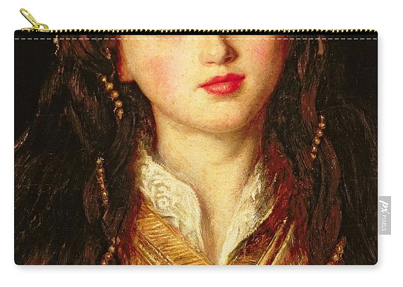 Portrait Carry-all Pouch featuring the painting Alice Gray, 1857 by Sir John Everett Millais