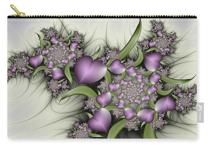 Digital Art Carry-all Pouch featuring the digital art Alice Was Here by Gabiw Art