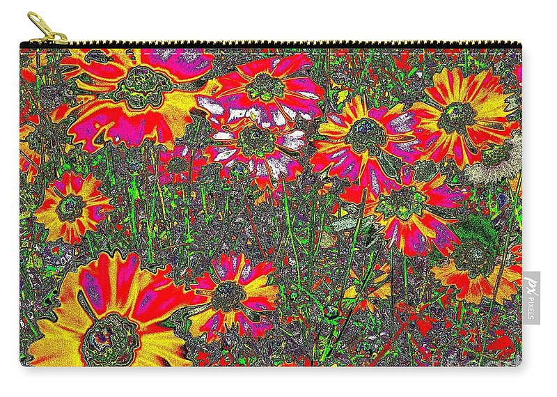 Flower Carry-all Pouch featuring the photograph Alice's Garden by Leslie Revels