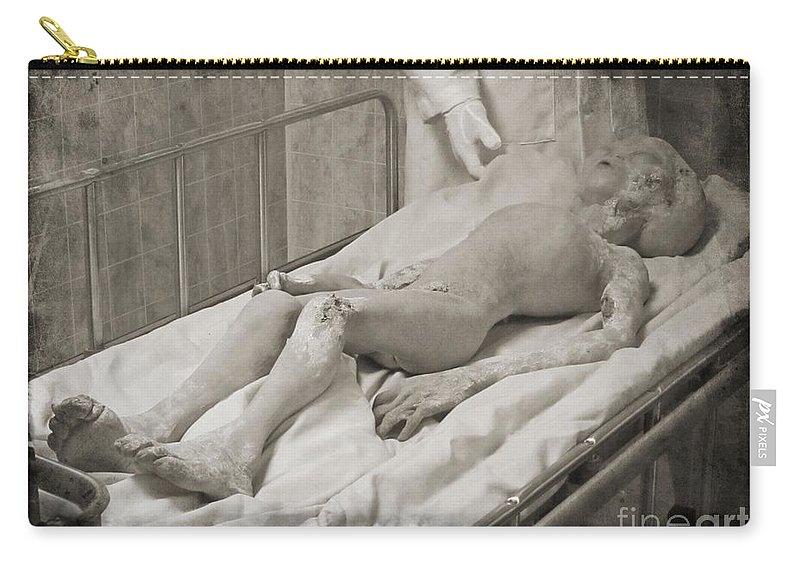 Alien Fan Art Carry-all Pouch featuring the photograph Alien Fan Art by John Malone