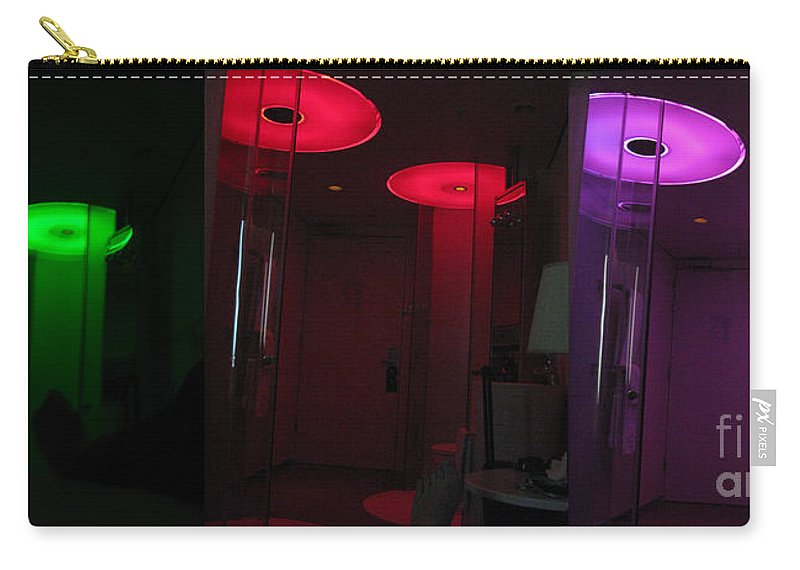 Colrful Carry-all Pouch featuring the photograph Alien Invasion. Hotel Citizenm. Amsterdam Airport by Ausra Huntington nee Paulauskaite
